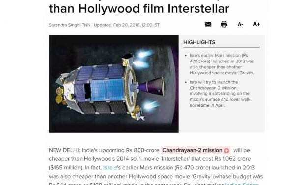 India Says Going to the Moon is Cheaper than Making a Hollywood Movie