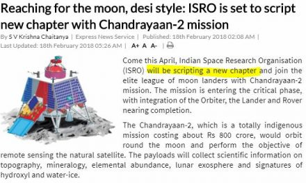 India's Fake Mission to the Moon in April 2018