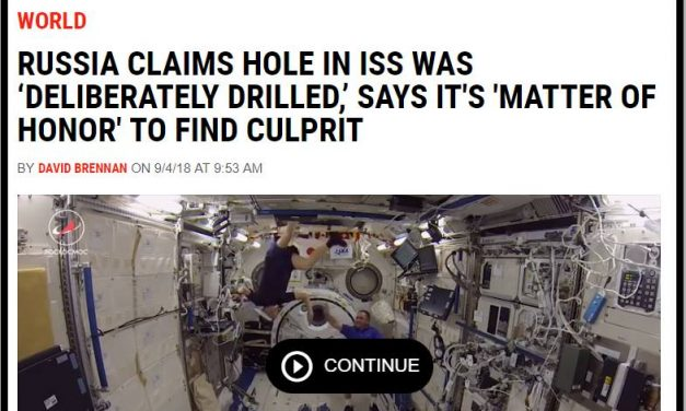 Meteorite Causes Hole in the ISS?
